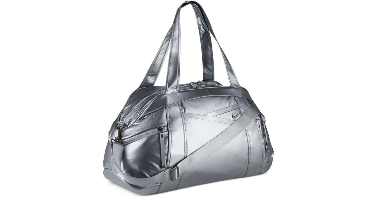 Lyst - Nike Victory Gym Club Metallic Duffel Bag in Gray e2bff9d3f0968
