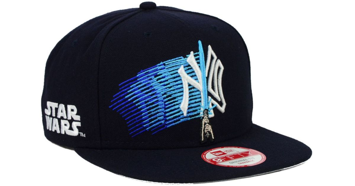 size 40 3ef77 09fd9 ... low price lyst ktz new york yankees star wars logoswipe 9fifty snapback  cap in blue for ...
