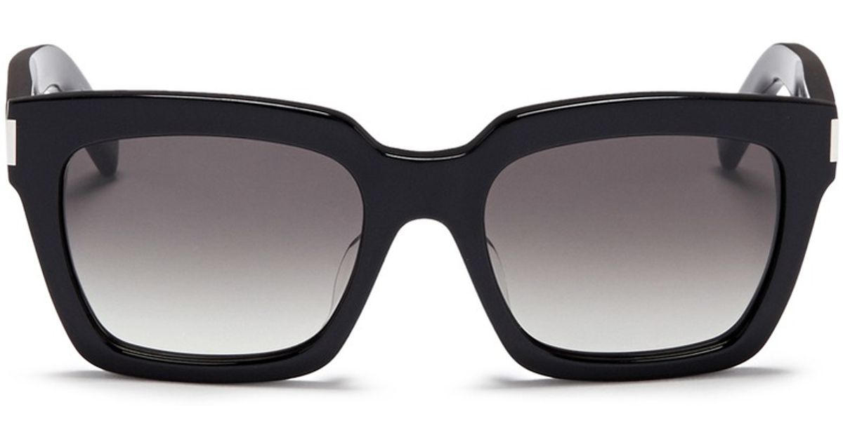 9014a3a6e5d Lyst - Saint Laurent  bold 1  Acetate Square Sunglasses in Black