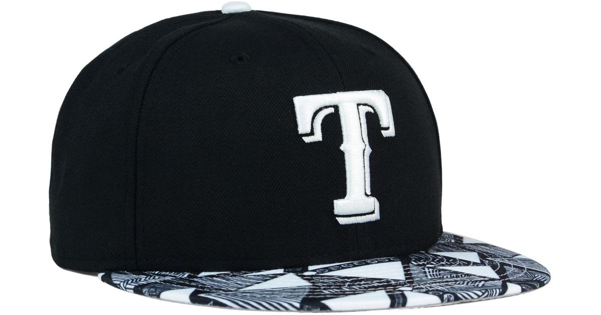 designer fashion 0994e 5a4ce ... coupon code for lyst ktz texas rangers istic 9fifty snapback cap in  black for men a25ab