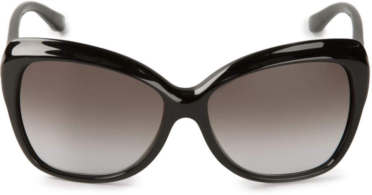 f5aea9e654fd Ferragamo Cat Eye Sunglasses in Black for Men - Lyst