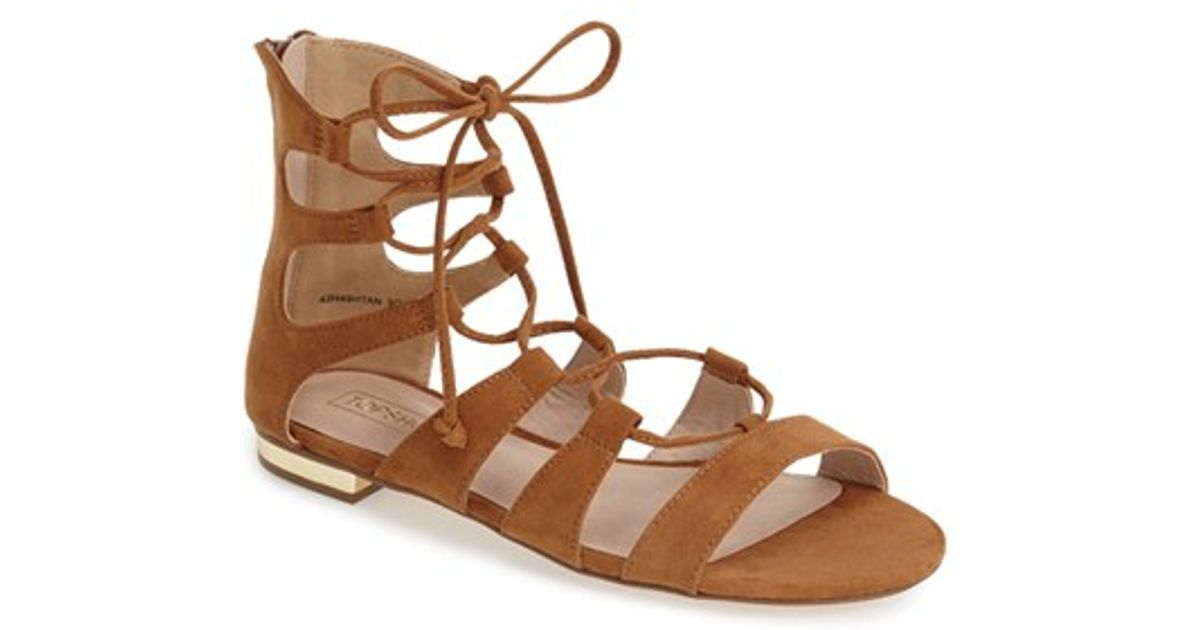 4968adcae2da0c Lyst - TOPSHOP Lace-up Gladiator Sandal in Brown