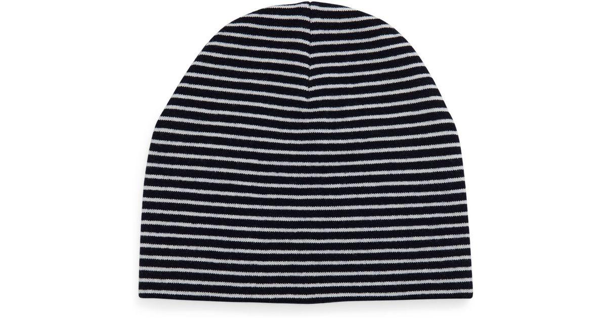 3f466fe9199 Lyst - Tory Burch Reversible Wool Beanie Hat in Blue