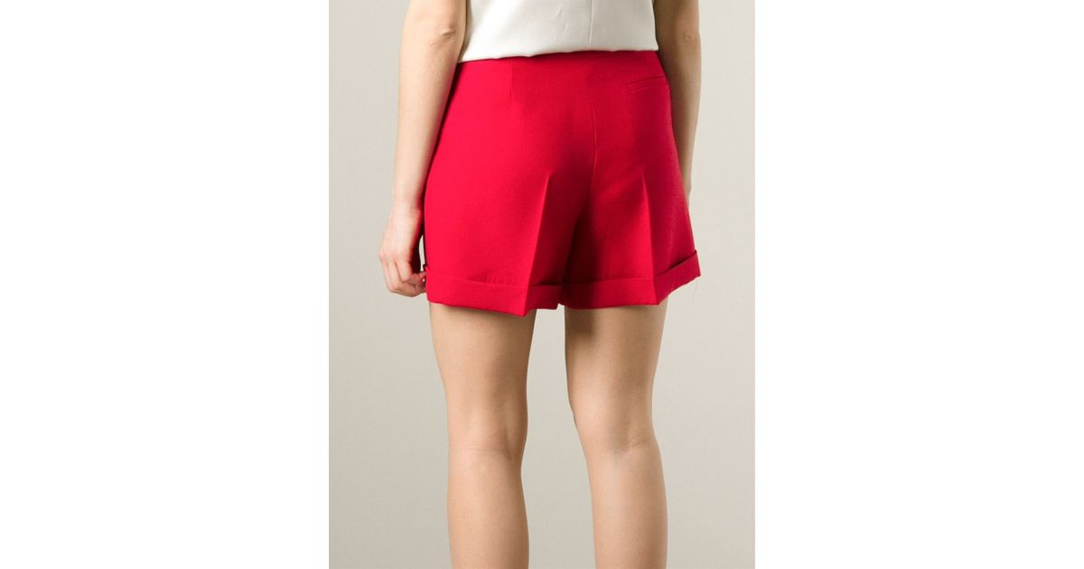 Valentino Tailored Shorts in Red | Lyst