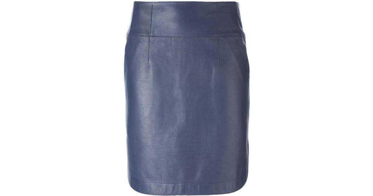 jil sander navy high waist skirt in blue save 61 lyst