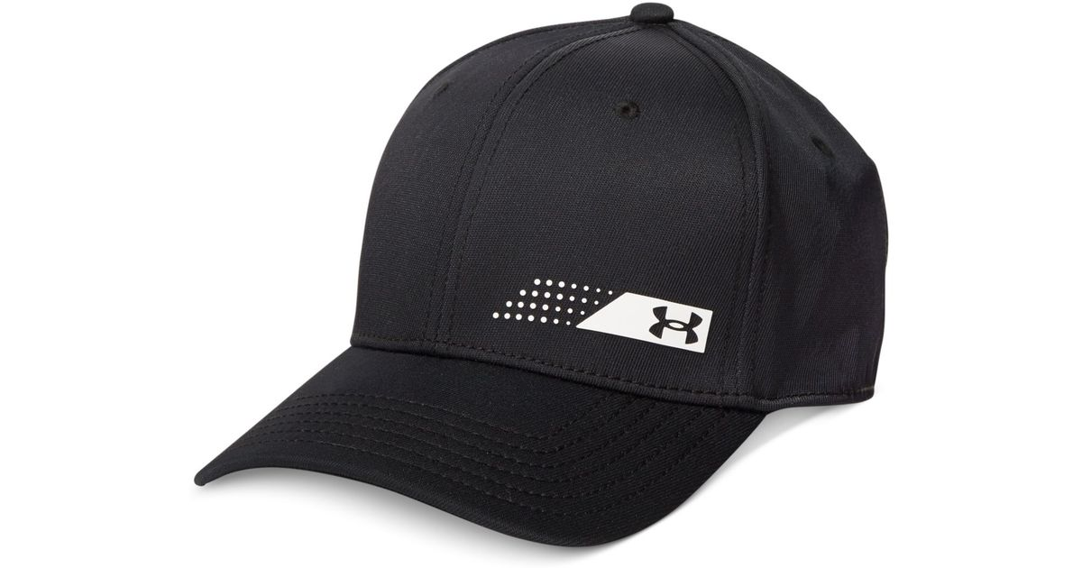 outlet store cd87c 1a87b Under Armour Fairway Heatgear Golf Cap in Black for Men - Lyst