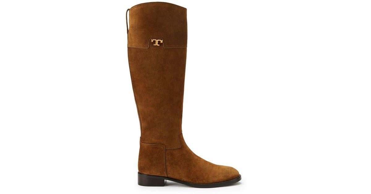 853ed99c013b ... amazon lyst tory burch wembley riding boot in brown de2f8 db3d6