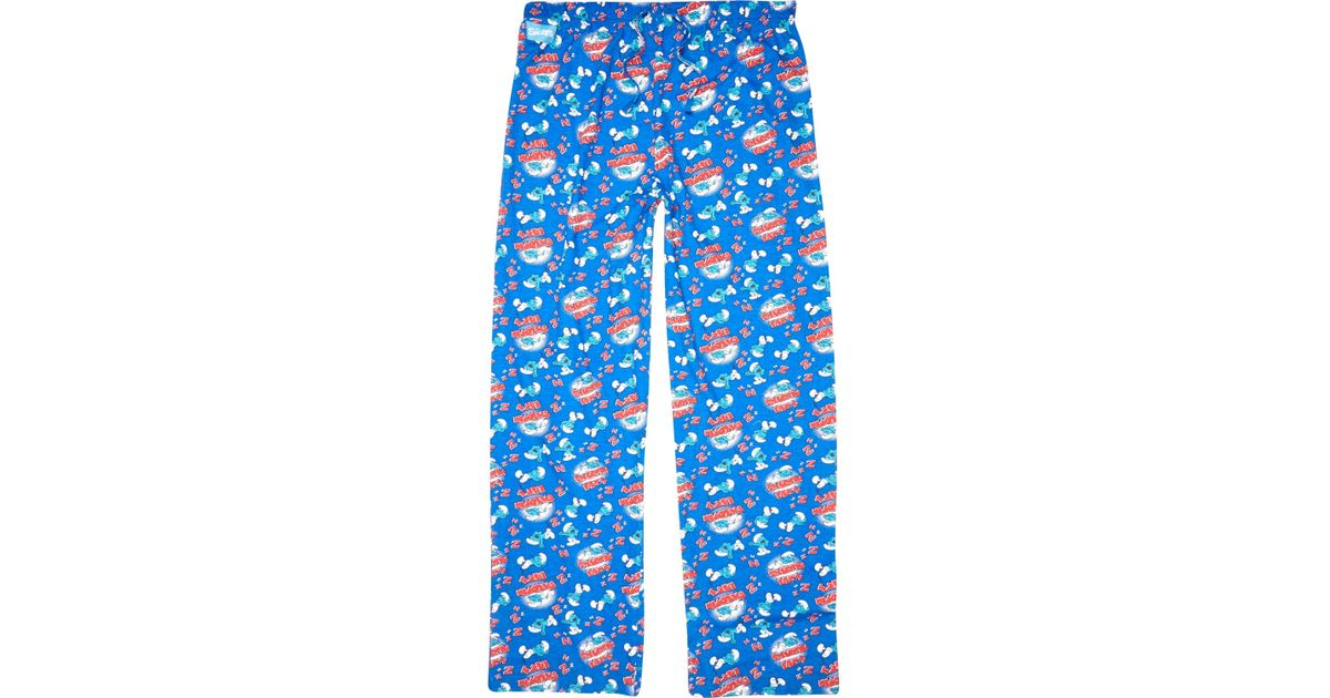cheap price reasonable price modern techniques River Island Blue Smurf Print Pajama Bottoms for men