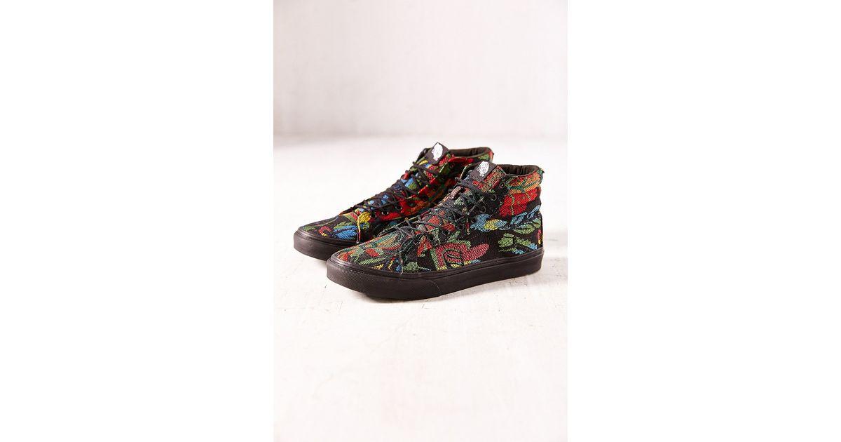 95204815525 Lyst - Vans Floral Tapestry Sk8hi Slim Sneaker