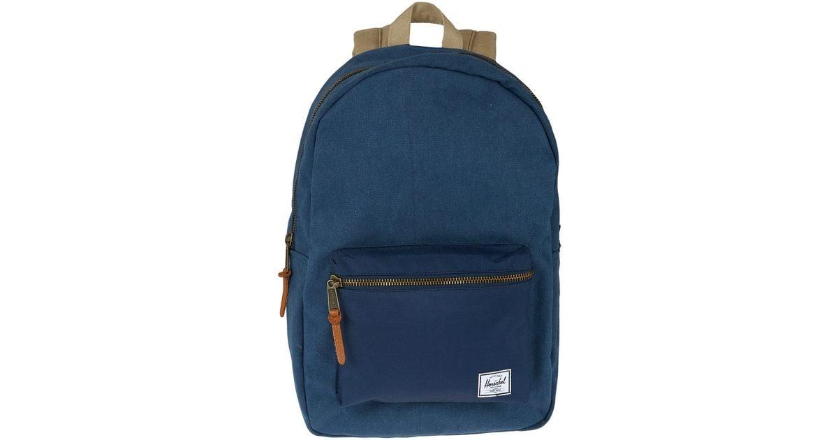 ac5fe6decc58 Herschel Supply Co. Navy Cotton Canvas Settlement Backpack in Blue for Men  - Lyst