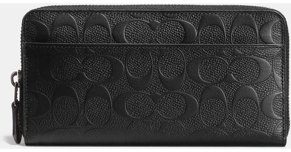 e79872a2134f Lyst - COACH Accordion Wallet In Signature Crossgrain Leather in Brown for  Men