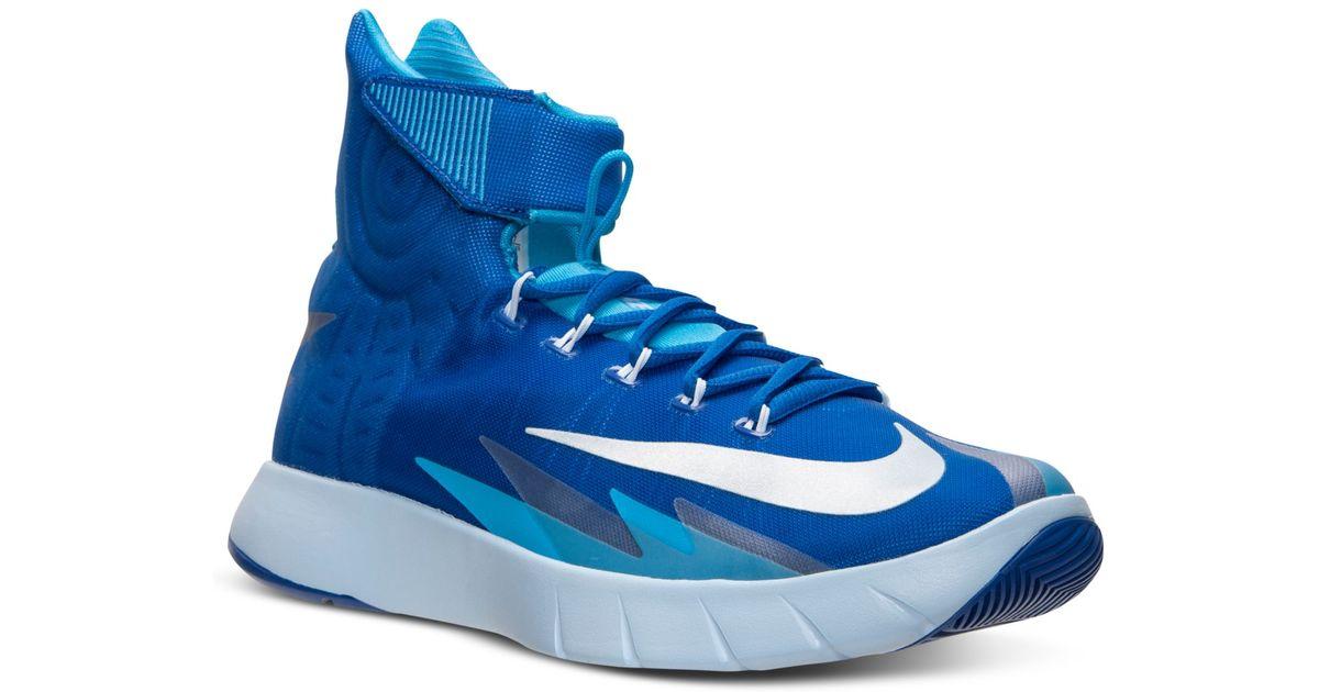 Lyst - Nike Mens Zoom Hyperrev Basketball Sneakers From Finish Line in Blue  for Men e4b05ab35