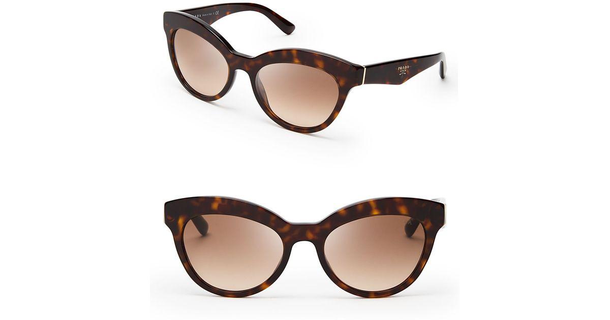 cb7a0c27510 Lyst - Prada Heritage Cat Eye Sunglasses in Brown