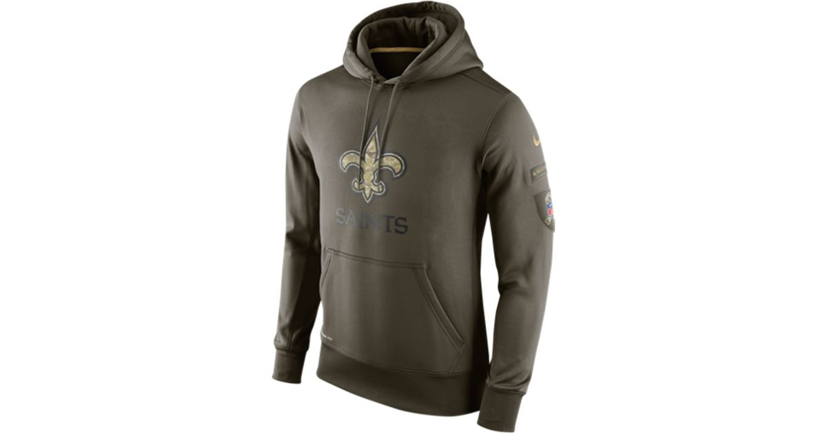 Wholesale Nike Men's New Orleans Saints Salute To Service Ko Hoodie in Green  free shipping