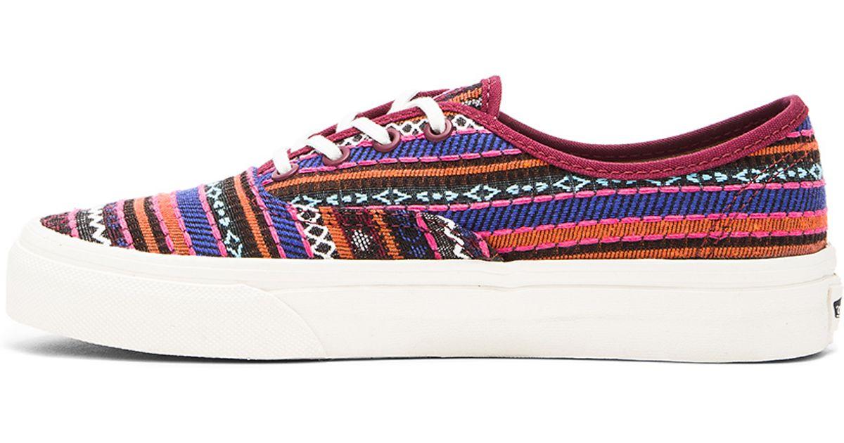 8361d57815 Lyst - Vans Authentic Ca Italian Weave Sneaker