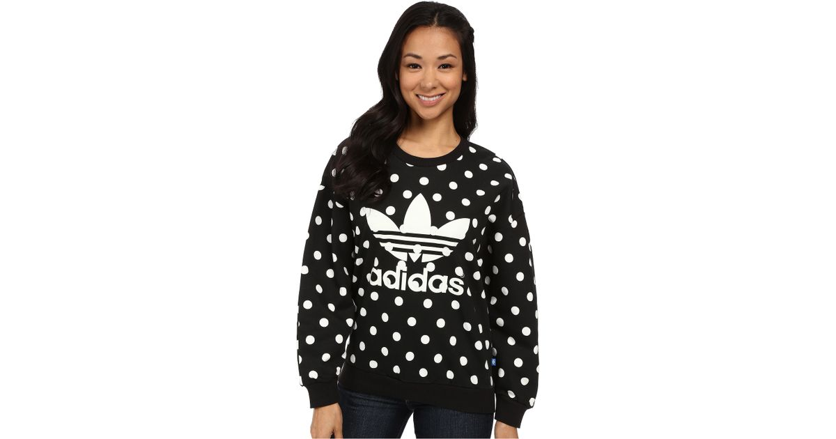 Adidas Originals Black Dots Aop Trefoil Sweatshirt