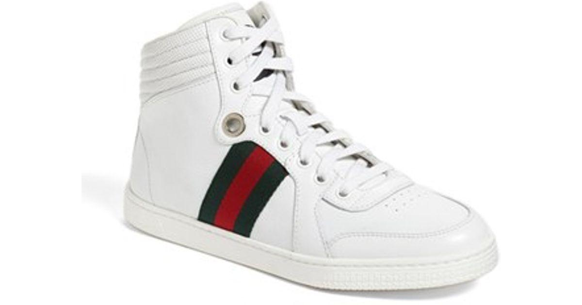 baa592b9e1f3 Lyst - Gucci  coda  High Top Sneaker in White