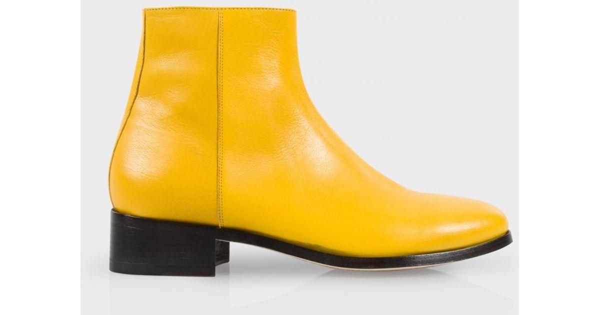 Lyst Paul Smith Men S Yellow Buffalino Leather Ollis