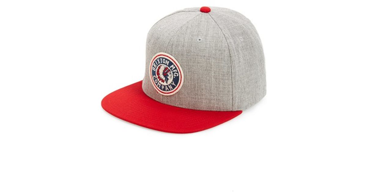 size 40 6663a 139f1 ... canada sweden lyst brixton rival snapback cap in red for men 24026  25703 8ccb4 50b83