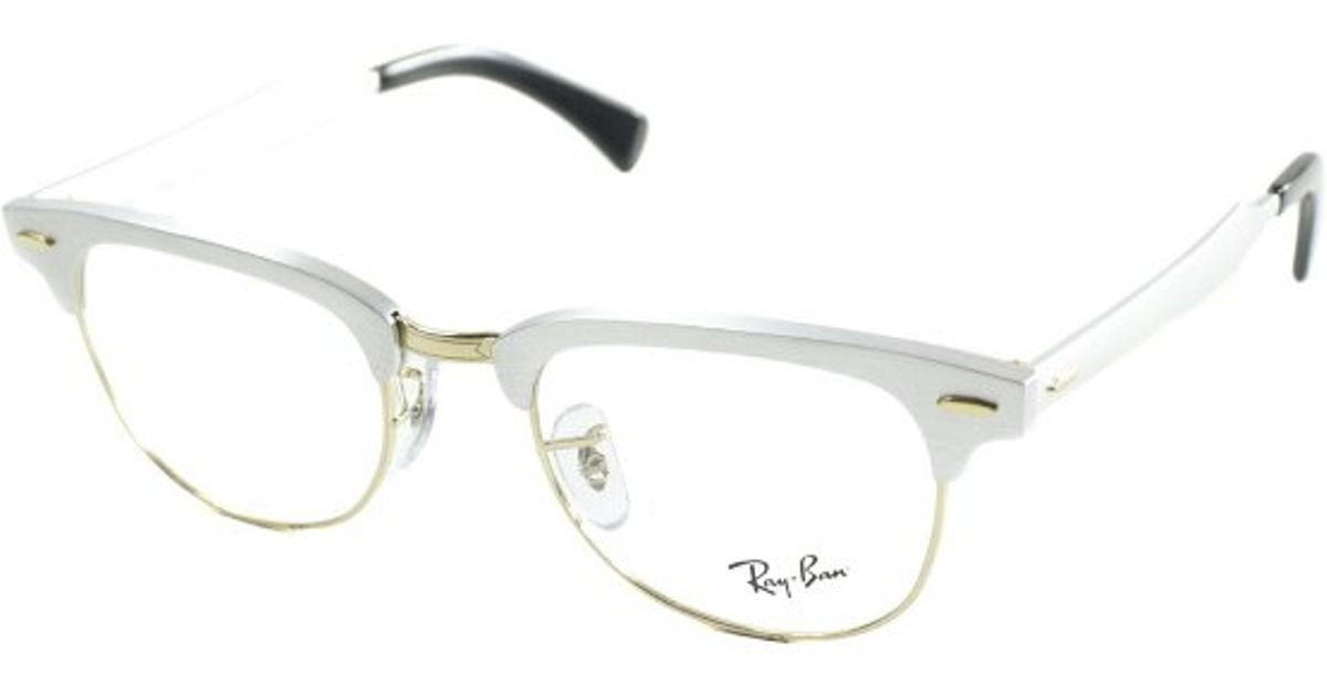 1f4940294f7 ... ray ban ray ban rx6295 aluminum clubmaster 2806 brushed silver and gold  metal eyeglasses buy ray ban clubmaster silver black rx6365 rb6365 2861 53  17 ...