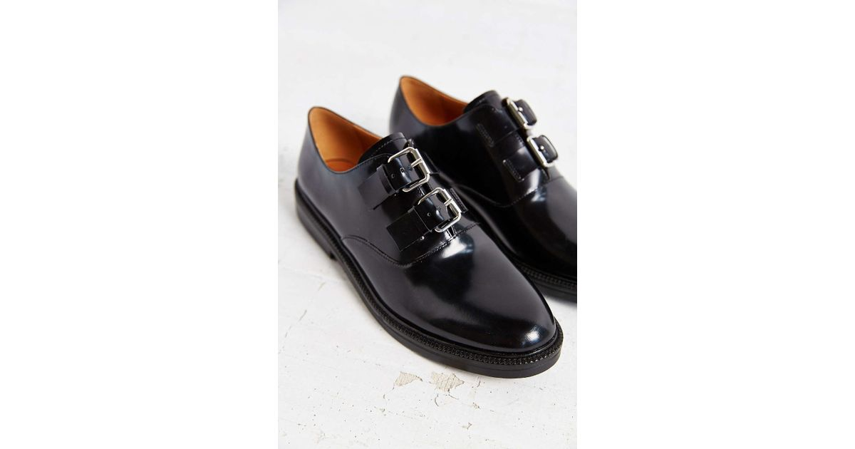 bd31010553f Lyst - Urban Outfitters Aster Double Buckle Oxford in Black