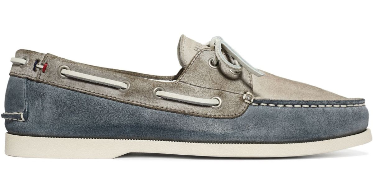 24f4272fd Lyst - Tommy Hilfiger Bowman Boat Shoes in Blue for Men