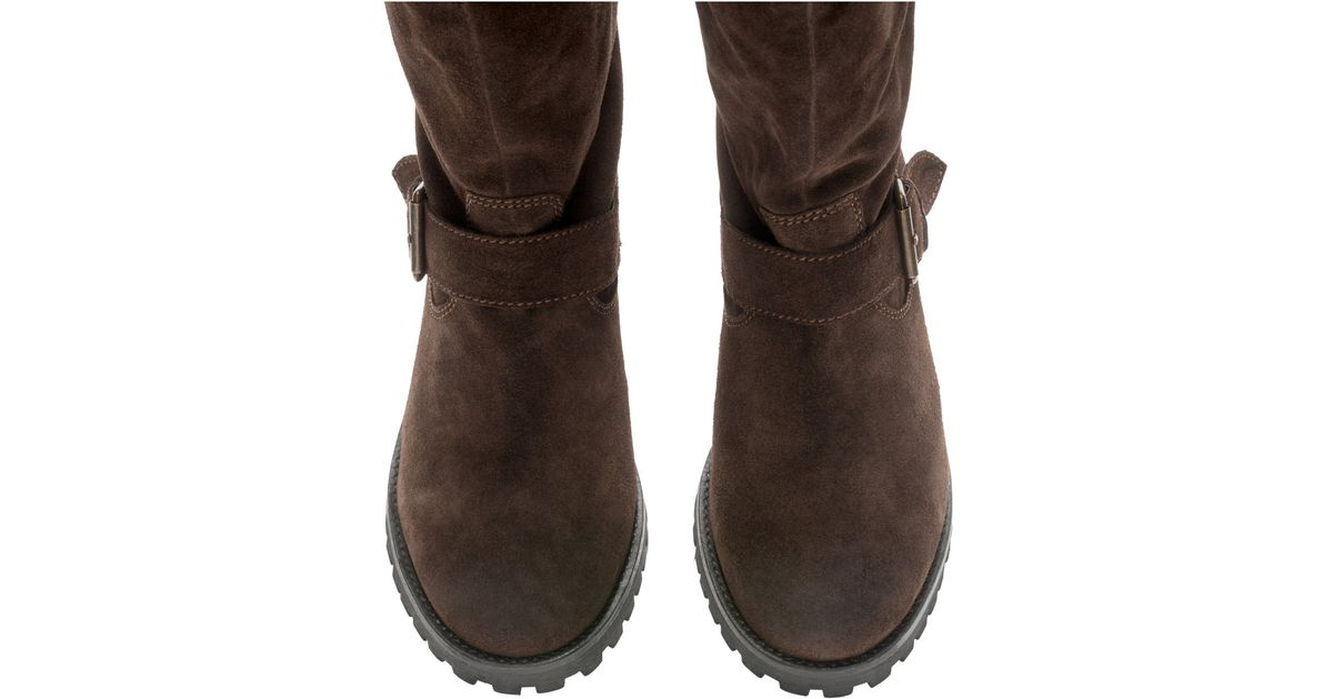 h m suede boots in brown brown save 50 lyst