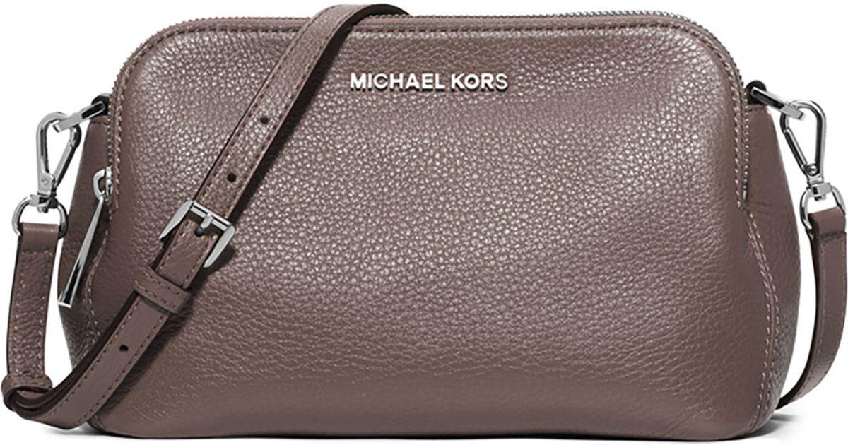 Lyst - MICHAEL Michael Kors Bedford Medium Double-zip Messenger Bag in Brown 9f90704627d7a
