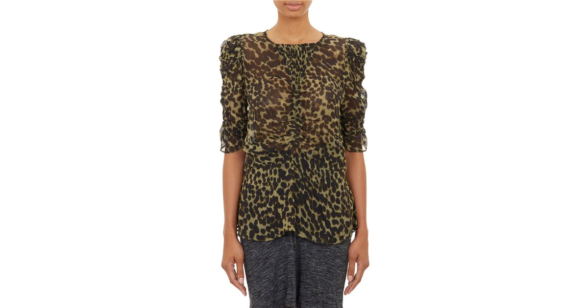 60cfe21d5be Étoile Isabel Marant Amaria Cotton Voile Blouse in Brown - Lyst