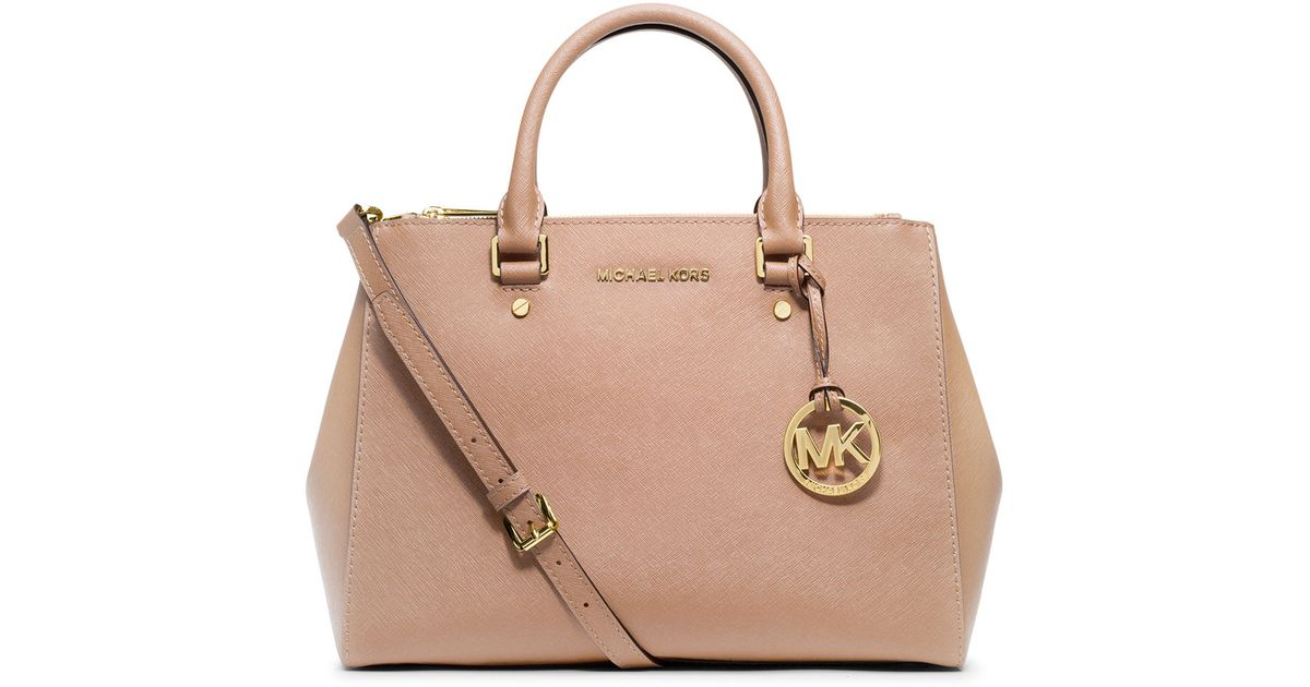 6a4d92b05e50 MICHAEL Michael Kors Sutton Medium Satchel Bag in Pink - Lyst