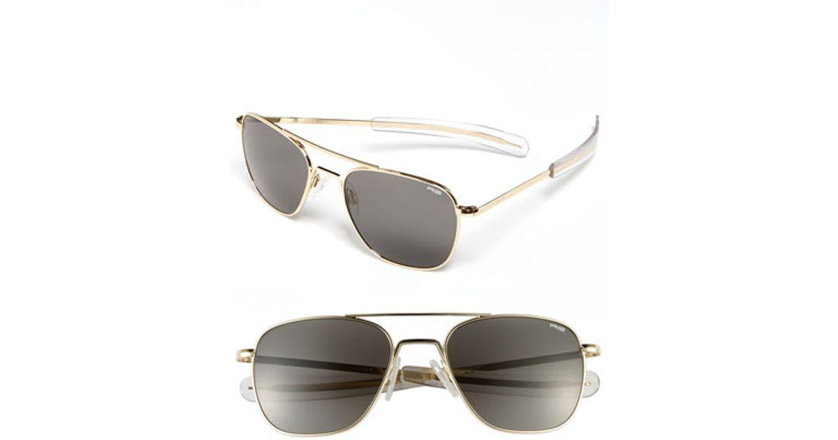 Randolph engineering 55mm Aviator Sunglasses in Gold for ...