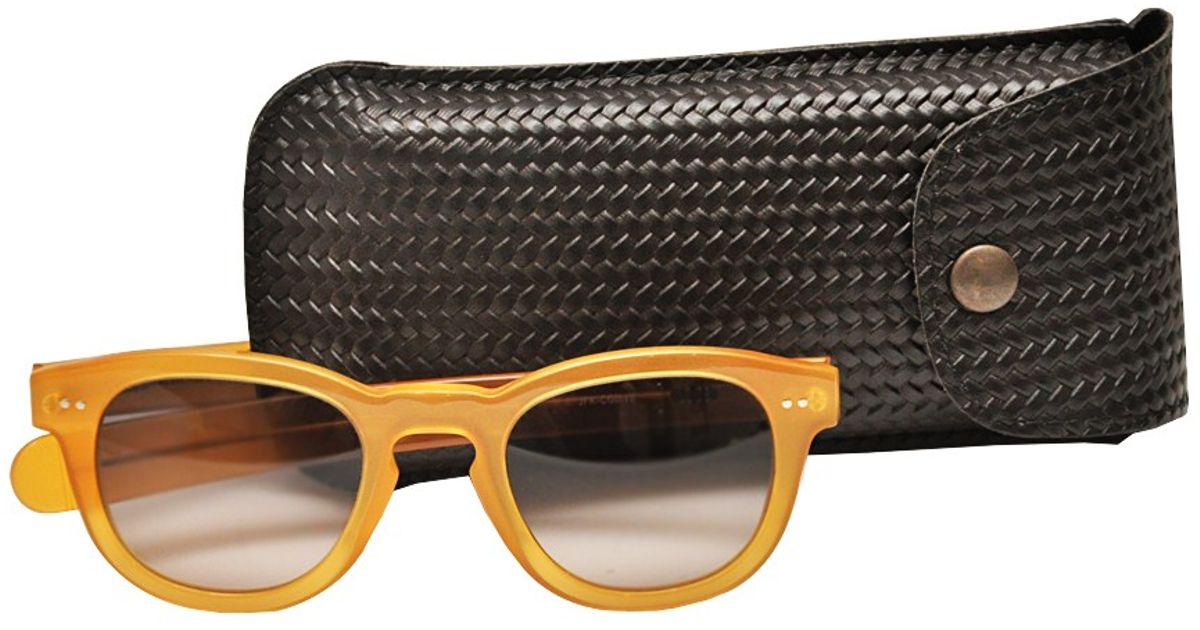 cd11594d78 L Inde Le Palais Sunglasses With Round Lenzes in Yellow - Lyst