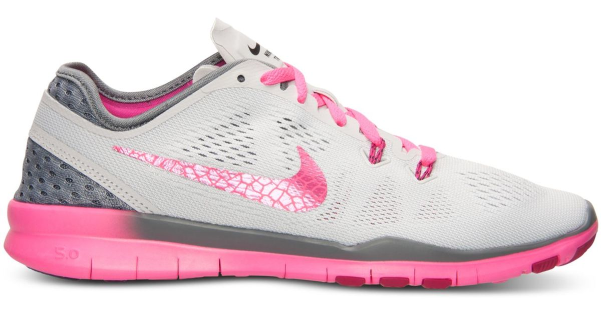 cheaper 76746 71d97 Nike Women s Free 5.0 Tr Fit 5 Breathe Training Sneakers From Finish Line  in Pink - Lyst