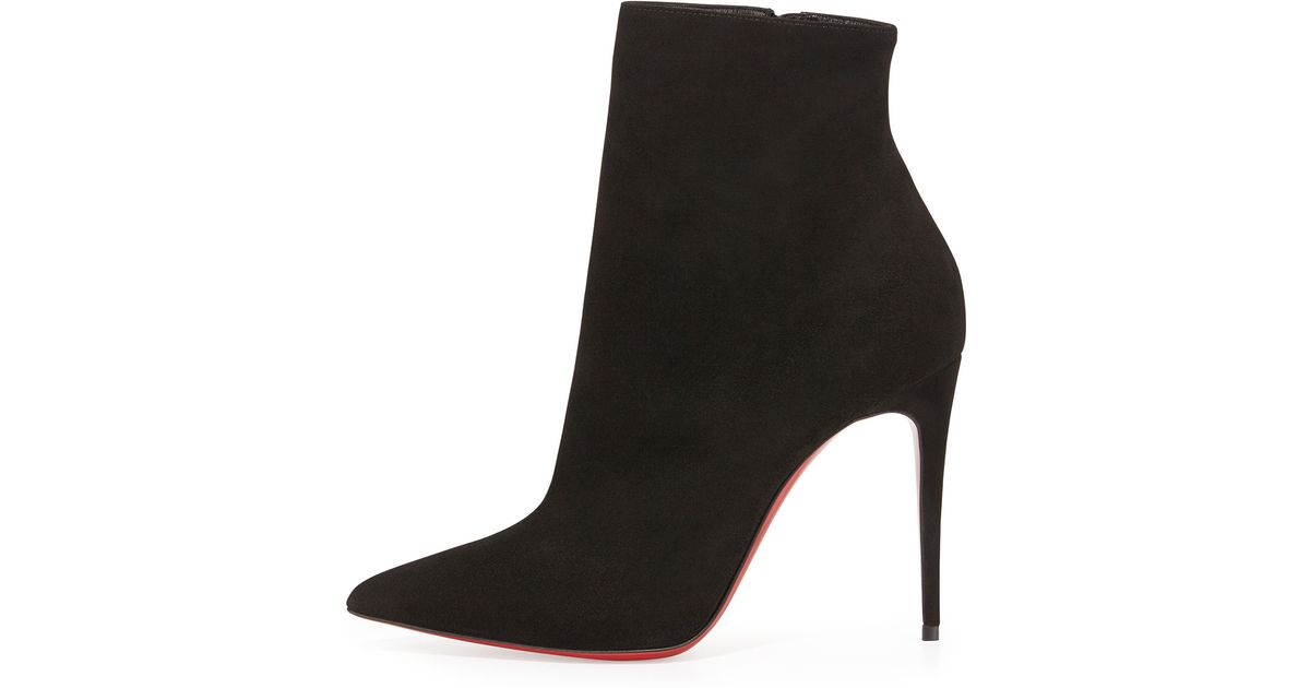 cfb303b4ea8 Lyst - Christian Louboutin So Kate Booty Suede Red Sole Ankle Boot in Black
