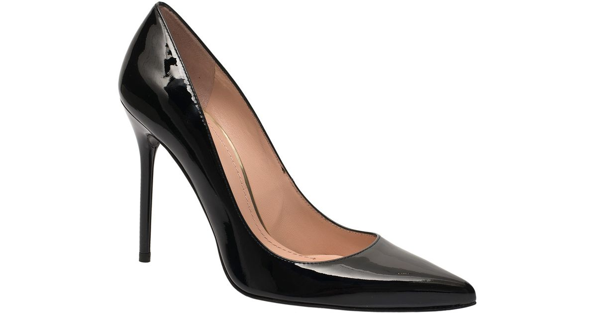 d9cc6ce7ff7 Stuart Weitzman Black Nouveau Patent Leather Stiletto Pumps in Black - Lyst