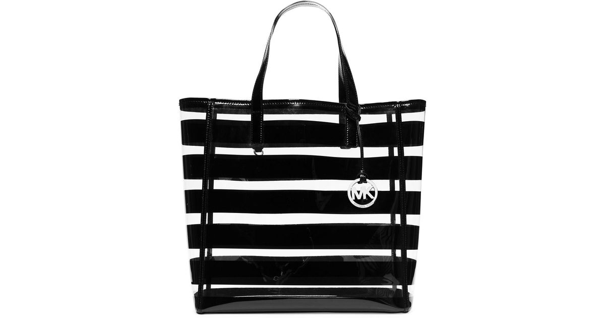 c9c2bfc29474 ... discount code for michael michael kors eliza plastic large tote in  black lyst b173d f04ed