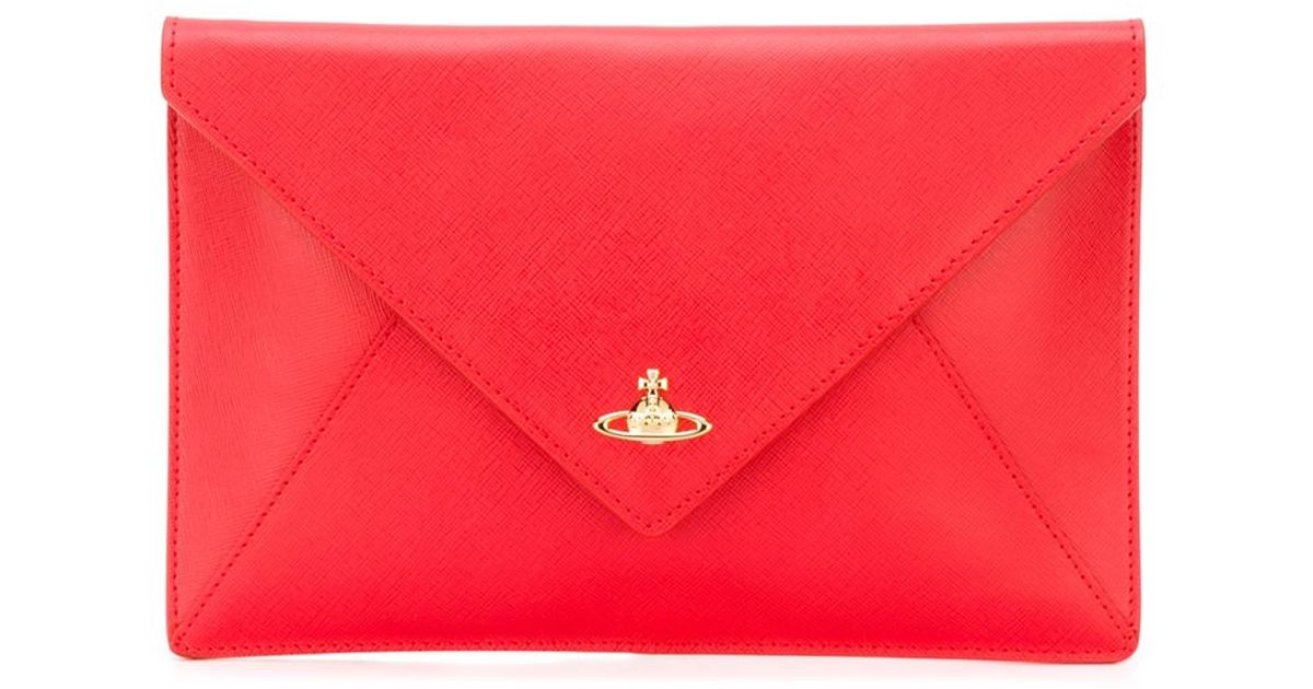 4b543a52b9e Vivienne Westwood Envelope Bag in Red - Lyst