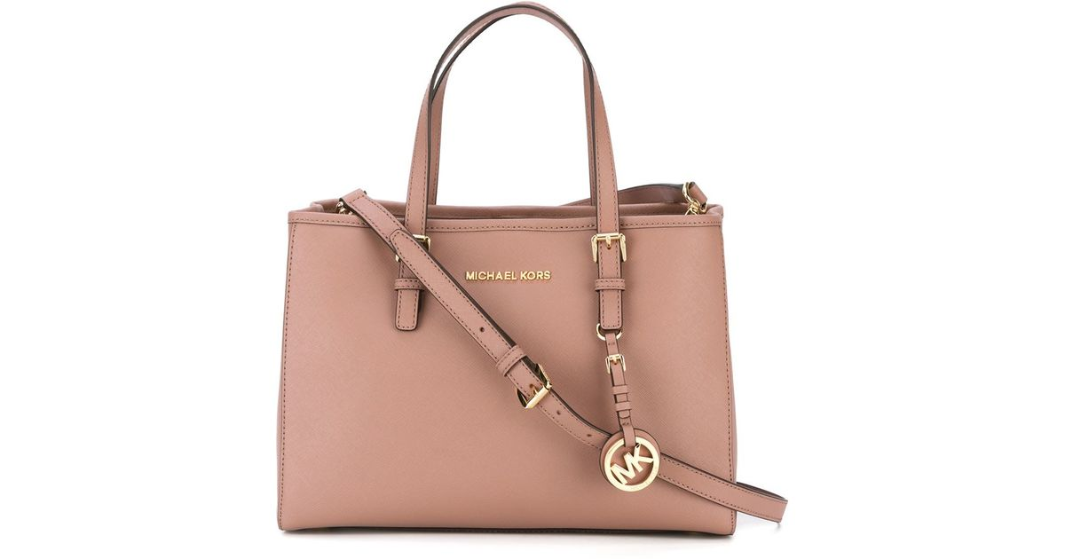 fe6c385d0545 Lyst - MICHAEL Michael Kors Jet Set Travel Medium Tote Bag in Pink