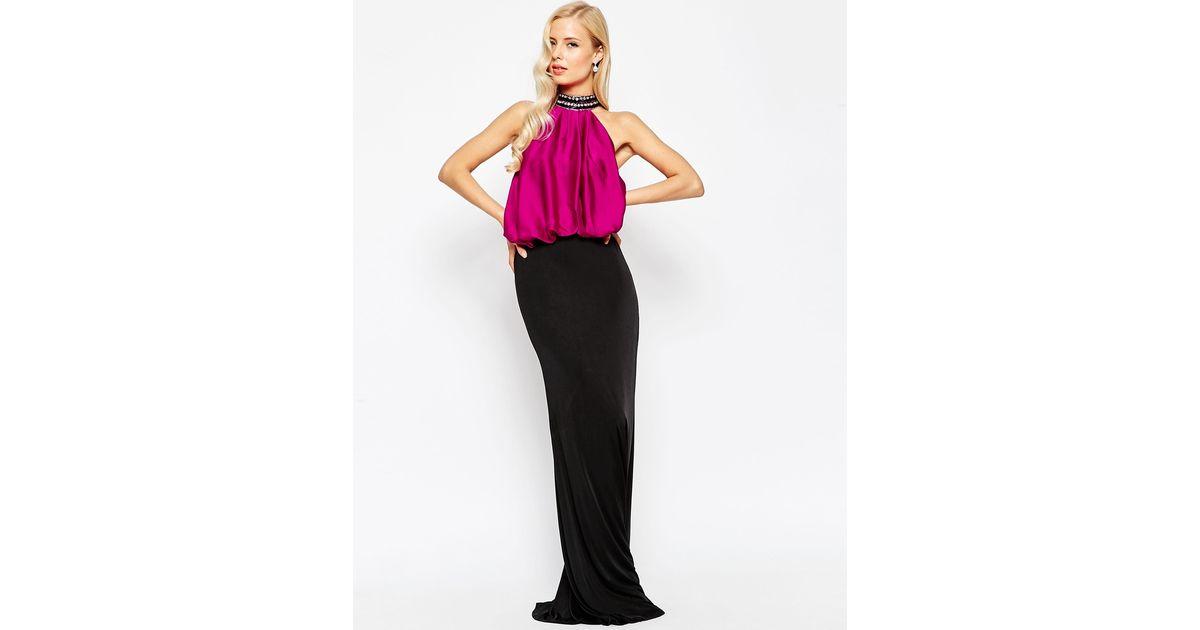 Forever Unique Tobi High Neck Maxi Dress in Black - Lyst 00fae1228