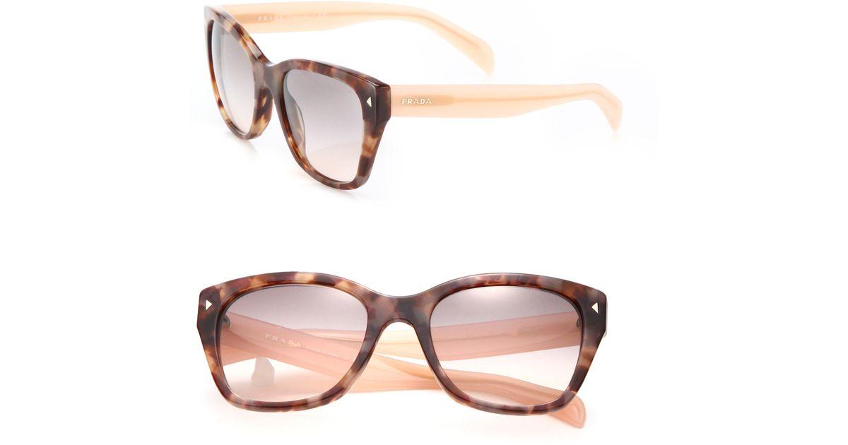 f47815005856 Prada 54mm Square Acetate Sunglasses in Pink - Lyst