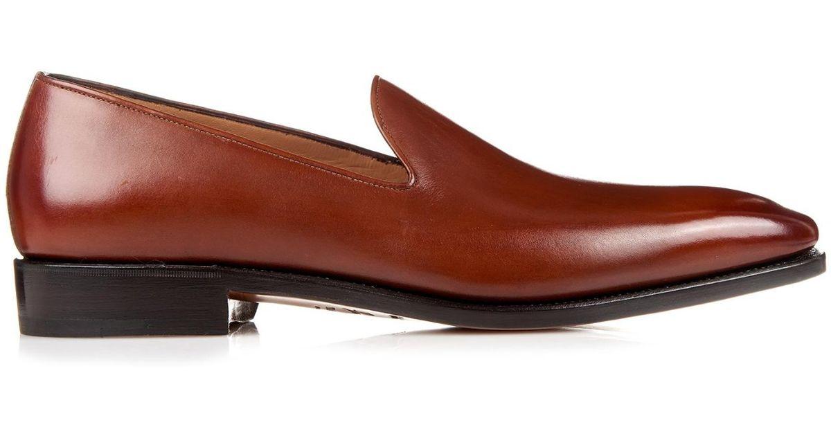 Ferragamo Naldo Tramezza Leather Loafers in Brown for Men (TAN) - Lyst