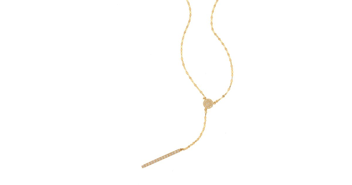 Lana Jewelry Mirage Diamond Lariat Necklace in 14K Rose Gold hKa3TZ