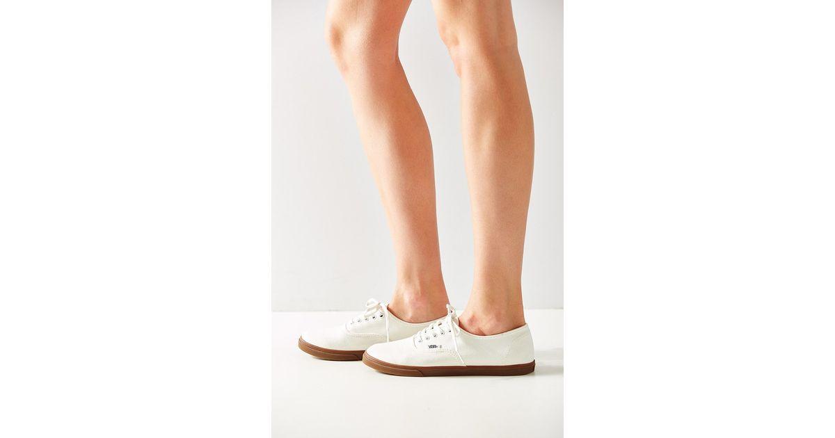 d16508858a24 Lyst - Vans Gumsole Authentic Lo Pro Sneaker in White