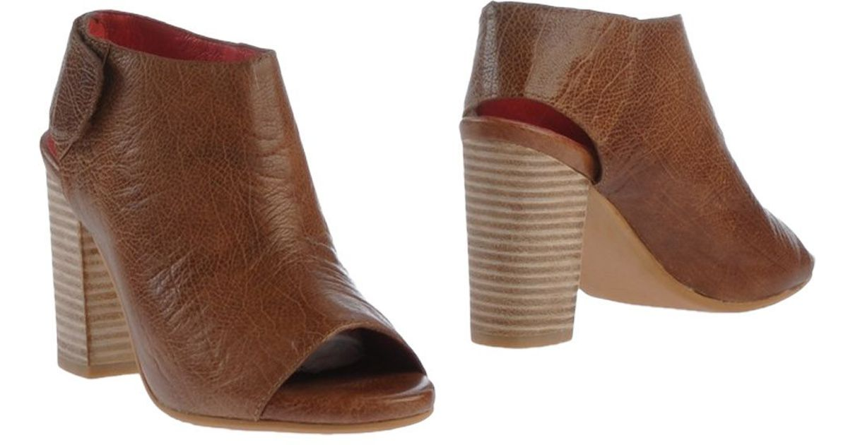 jeffrey cbell open toe textured leather ankle boots in