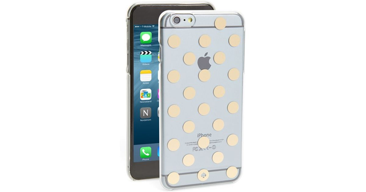 the best attitude 752b4 91377 kate spade new york - 'le Pavilion' Iphone 6 Plus & 6s Plus Case - Metallic  - Lyst