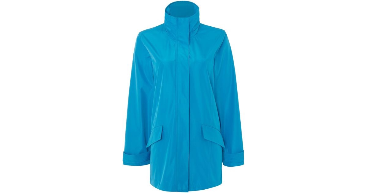 Tigi Stand Up Collar Coat In Blue Save 12 Lyst