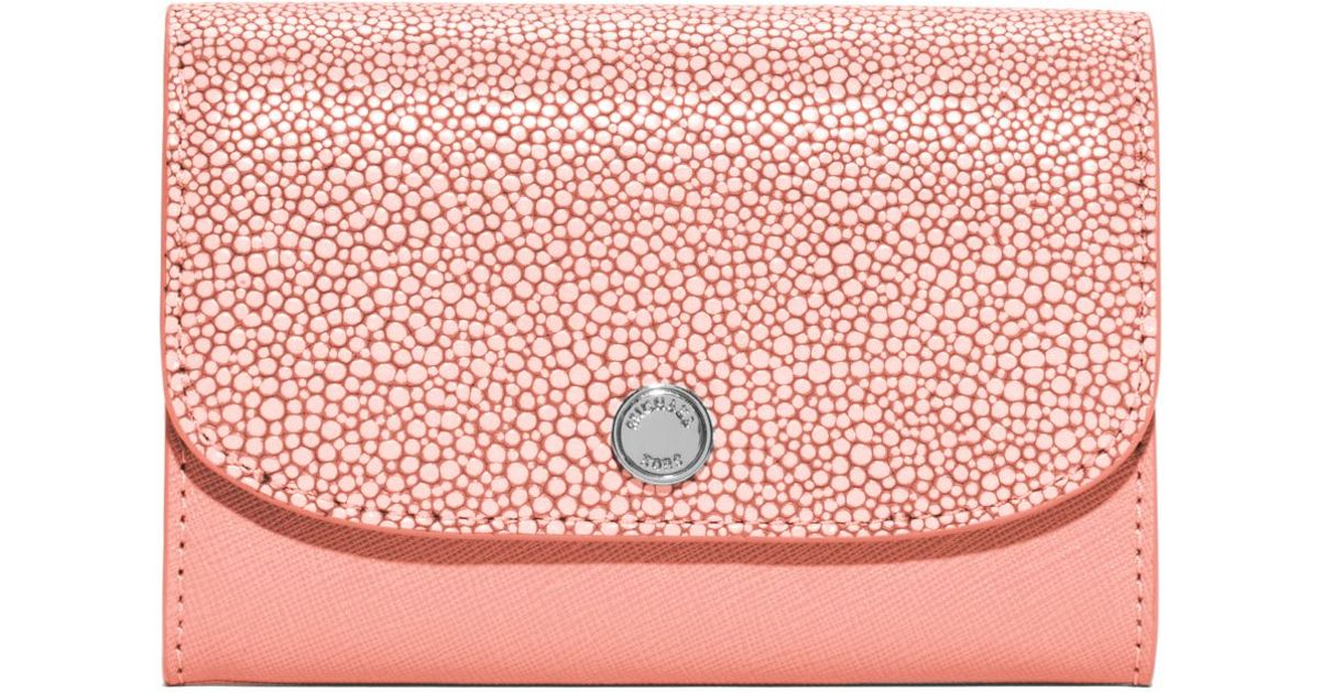 74fe4300448b Michael Kors Juliana Medium 3-in-1 Saffiano Leather Wallet in Pink - Lyst