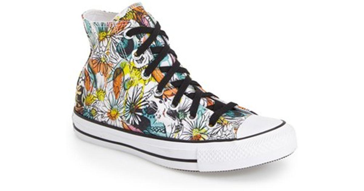 5c7fb78cb086d4 Lyst - Converse Chuck Taylor All Star  floral  High Top Sneaker