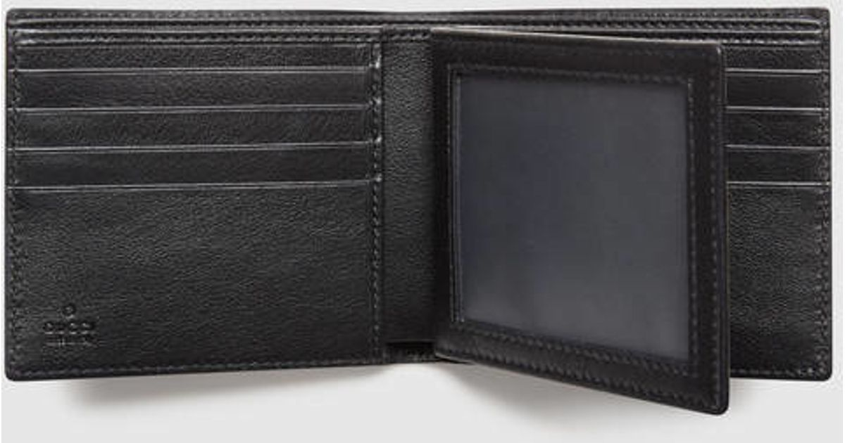164b6e35aae6 Gucci Guccissima Wallet With Id Window in Black for Men - Lyst