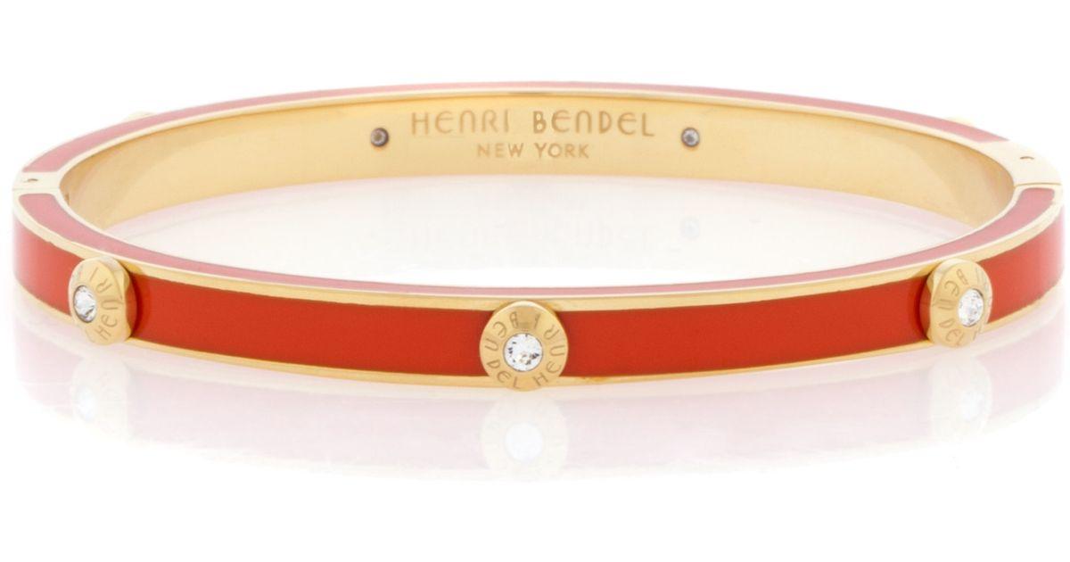 Lyst Henri Bendel Miss Bendel Rivet Bangle Bracelet In Orange